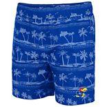 Men's Colosseum Royal Kansas Jayhawks Maui Swim Shorts