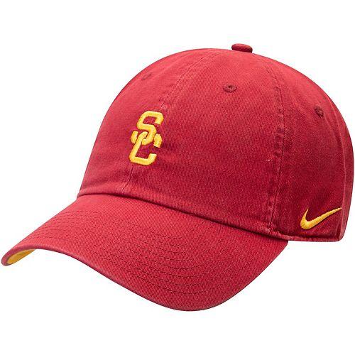 Men's Nike Cardinal USC Trojans Washed Heritage 86 Adjustable Hat