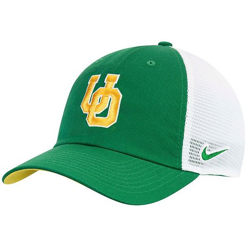 Men's Nike Green Oregon Ducks Heritage 86 Trucker Adjustable Hat