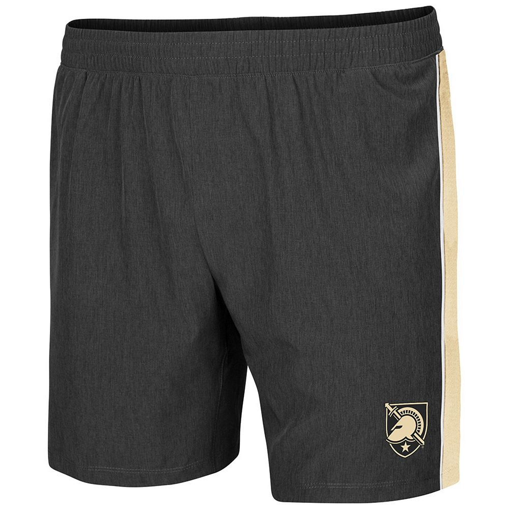 Men's Colosseum Charcoal Army Black Knights Spring Training Lined Running Shorts