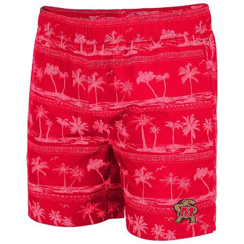 Men's Colosseum Red Maryland Terrapins Maui Swim Shorts