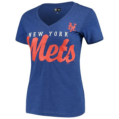 Women's G-III 4Her by Carl Banks Royal New York Mets Game Day V-Neck T-Shirt