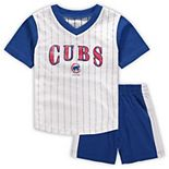 Toddler White/Royal Chicago Cubs Little Hitter V-Neck T-Shirt & Shorts Set