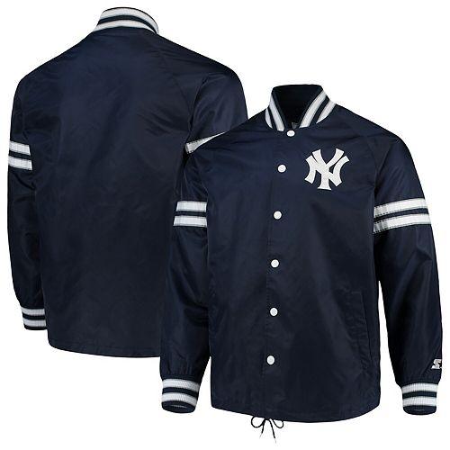 Men's G-III Sports by Carl Banks Navy New York Yankees Skipper Coach's Full Snap Jacket