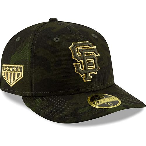San Francisco Giants New Era 2019 MLB Armed Forces Day On-Field Low Profile 59FIFTY Fitted Hat - Camo