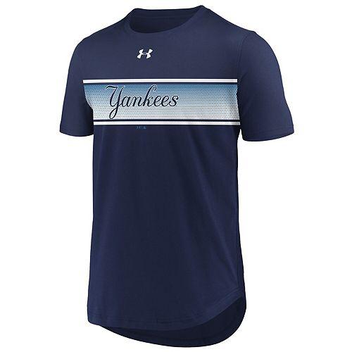 Men's Under Armour Navy New York Yankees Seam To Seam Core Performance T-Shirt