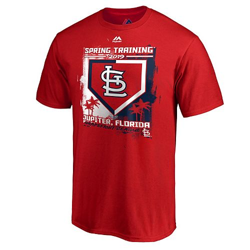 Men's Majestic Red St. Louis Cardinals 2019 Spring Training Base On Ball T-Shirt