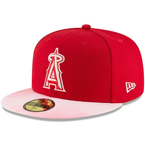 Los Angeles Angels New Era 2019 Mother's Day On-Field 59FIFTY Fitted Hat - Red/Pink