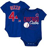 Newborn & Infant Majestic Anthony Rizzo Royal Chicago Cubs Baby Slugger Name & Number Bodysuit