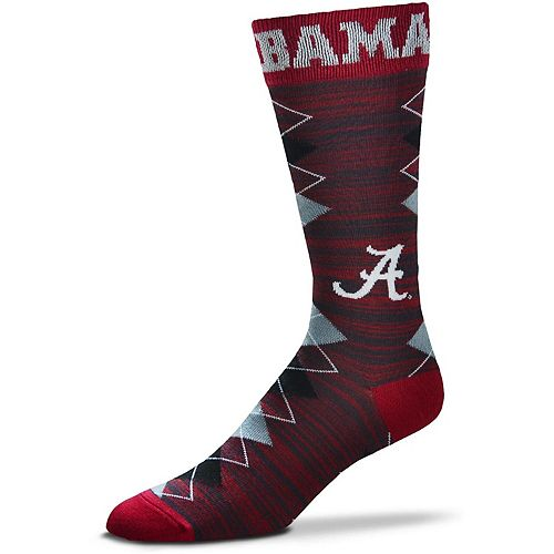 Men's For Bare Feet Alabama Crimson Tide Fan Nation Crew Socks