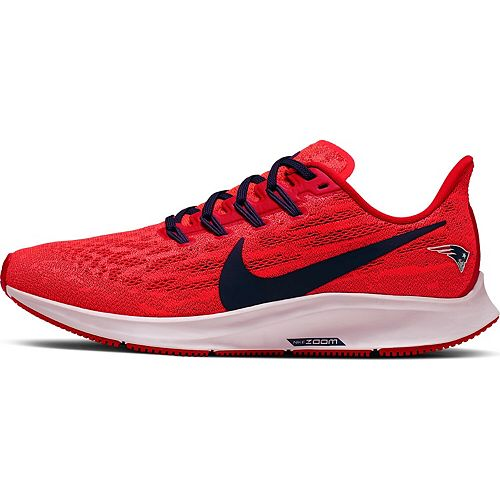Women's Nike Red/Navy New England Patriots Air Zoom Pegasus 36 Running Shoes