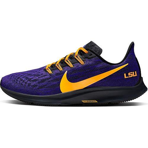 Men's Nike Purple/Gold LSU Tigers Air Zoom Pegasus 36 Running Shoes