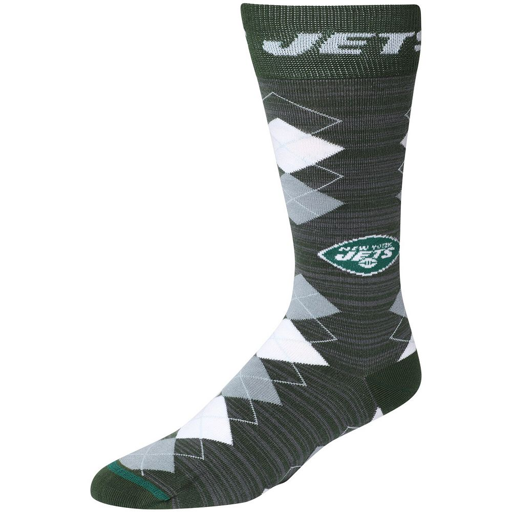 Men's For Bare Feet New York Jets Fan Nation Crew Socks