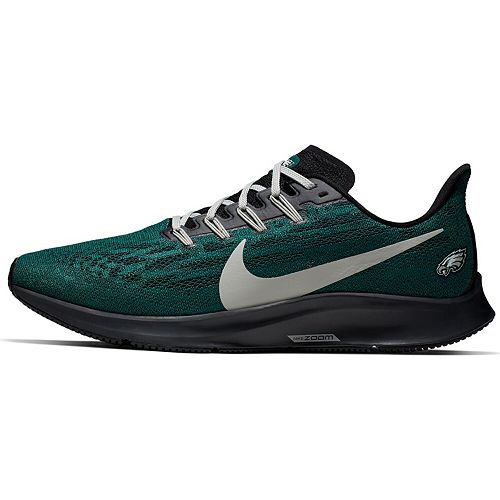 Men's Nike Midnight Green/Gray Philadelphia Eagles Air Zoom Pegasus 36 Running Shoe