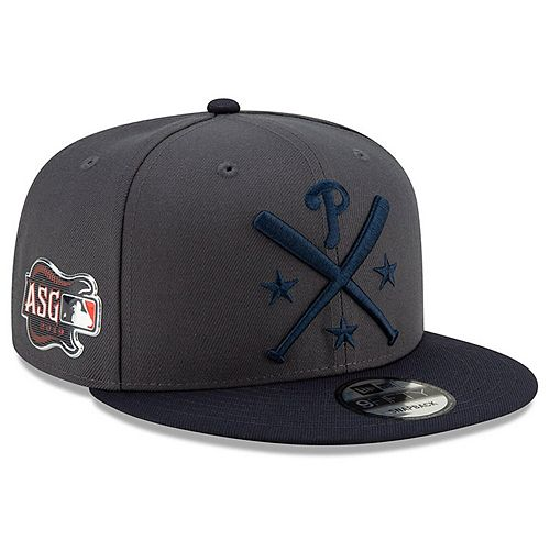 Men's New Era Graphite/Navy Philadelphia Phillies 2019 MLB All-Star Workout 9FIFTY Snapback Adjustable Hat