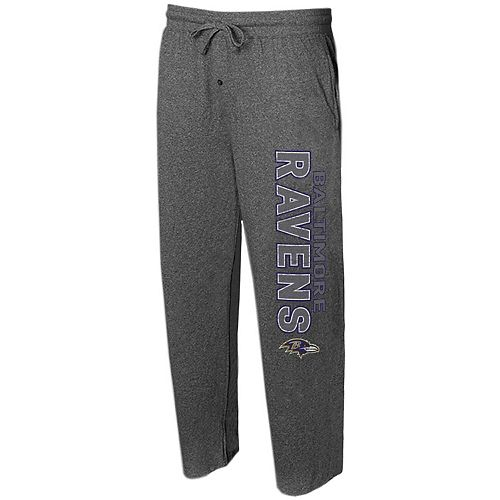 Men's Concepts Sport Charcoal Baltimore Ravens Quest Knit Lounge Pants