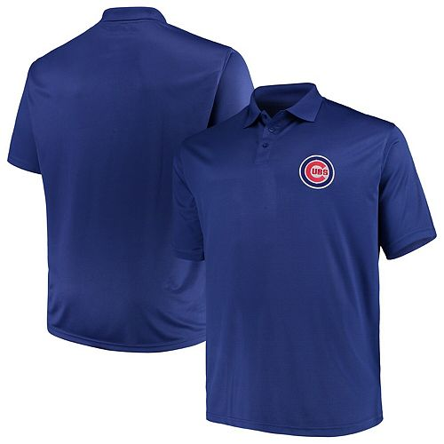 Men's Majestic Royal Chicago Cubs Big & Tall Solid Birdseye Polo