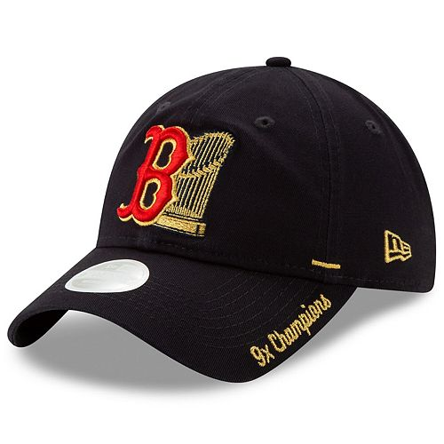 Women's New Era Navy Boston Red Sox World Series Champions Shine 9TWENTY Adjustable Hat
