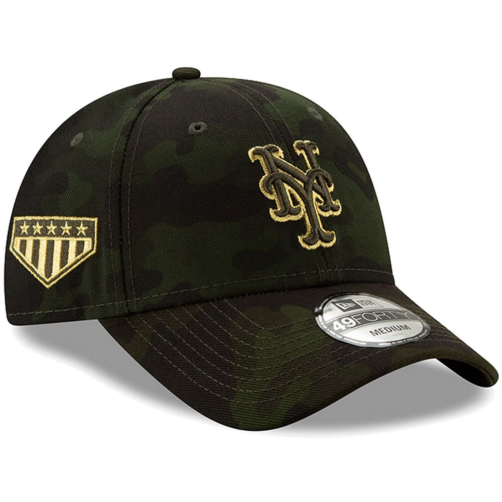 New York Mets New Era 2019 MLB Armed Forces Day 49FORTY Fitted Hat - Camo