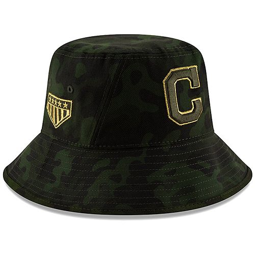 Cleveland Indians New Era 2019 MLB Armed Forces Day Bucket Hat - Camo