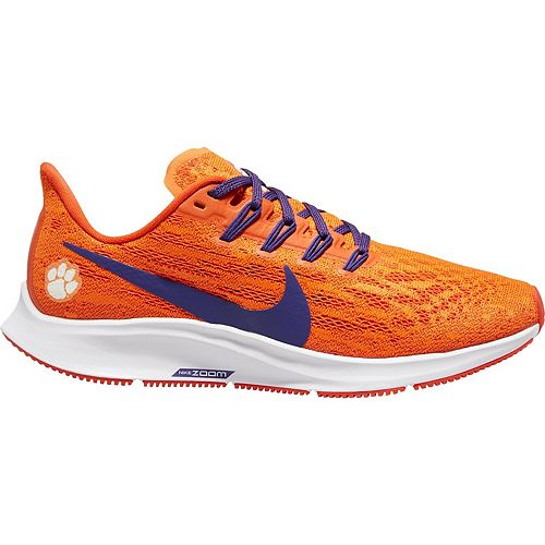 Women's Nike Orange/Purple Clemson Tigers Air Zoom Pegasus 36 Running Shoes