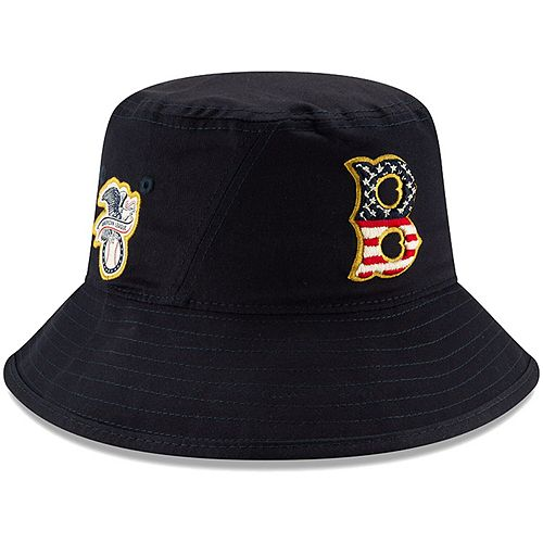 Men's New Era Navy Boston Red Sox 2019 Stars & Stripes 4th of July Bucket Hat