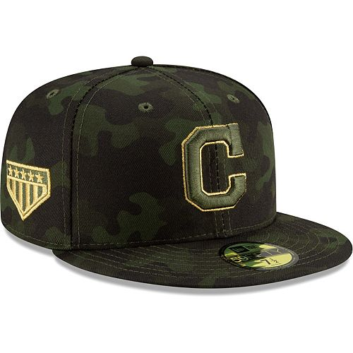 Cleveland Indians New Era 2019 MLB Armed Forces Day On-Field 59FIFTY Fitted Hat - Camo