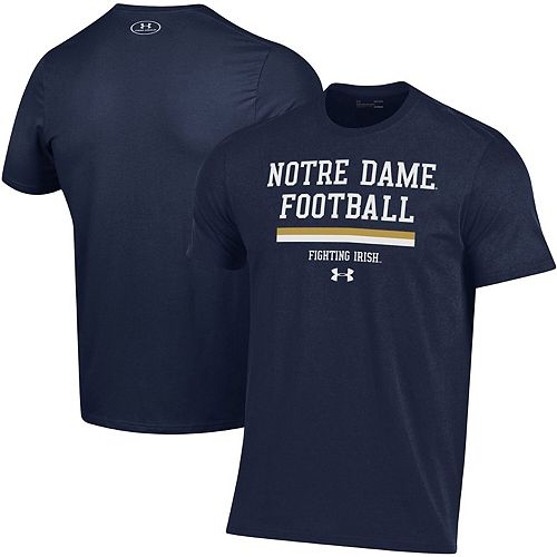 Men's Under Armour Navy Notre Dame Fighting Irish 2019 Football Sideline Performance T-Shirt