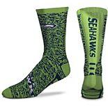 Men's For Bare Feet Seattle Seahawks Jump Jolt Crew Socks