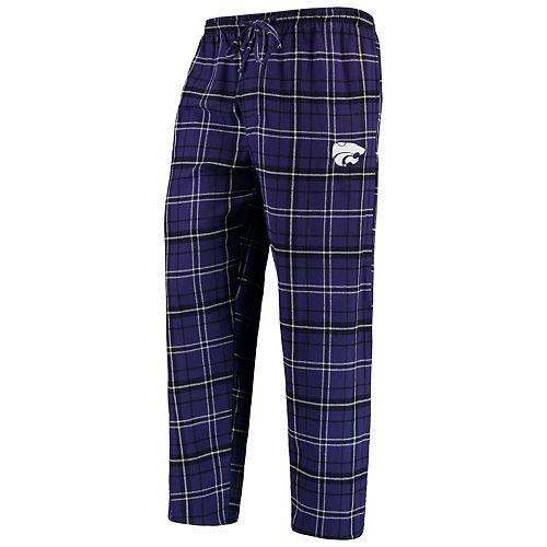 Men's Concepts Sport Purple/Black Kansas State Wildcats College Ultimate Flannel Pants