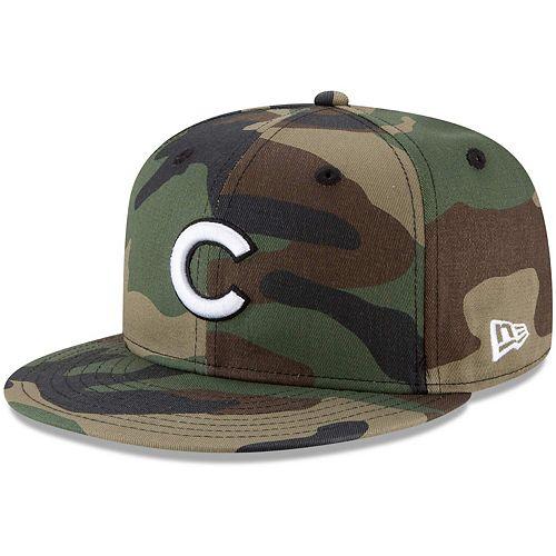 Men's New Era Camo Chicago Cubs Basic 9FIFTY Snapback Hat