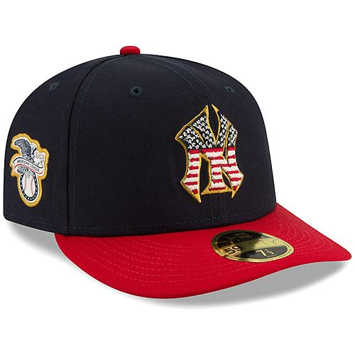 Men's New Era Navy/Red New York Yankees 2019 Stars & Stripes 4th of July On-Field Low Profile 59FIFTY Fitted Hat