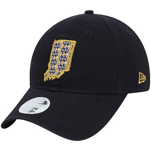 Women's New Era Navy Notre Dame Fighting Irish Stamp 9TWENTY Adjustable Hat