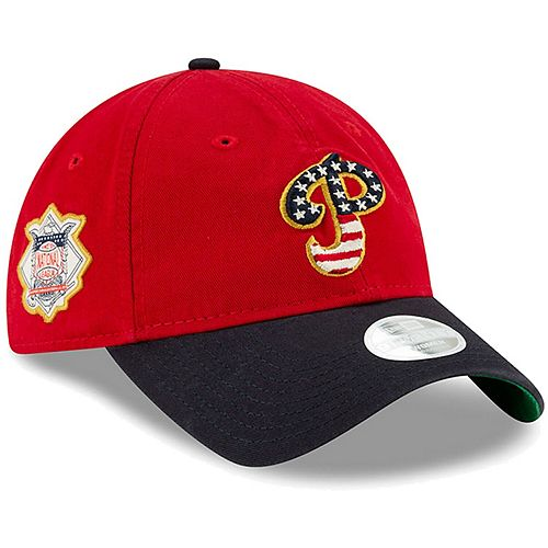 Women's New Era Red Philadelphia Phillies 2019 Stars & Stripes 4th of July 9TWENTY Adjustable Hat