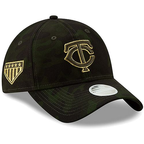 Minnesota Twins New Era Women's 2019 MLB Armed Forces Day 9TWENTY Adjustable Hat - Camo