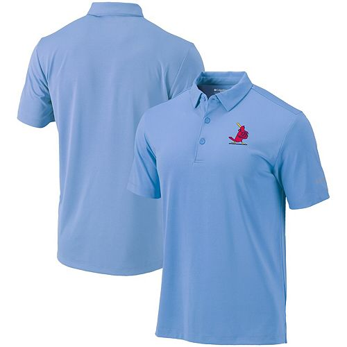 Men's Columbia Light Blue St. Louis Cardinals Cooperstown Collection Drive Omni-Shade Polo