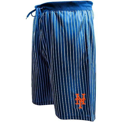Men's Majestic Royal New York Mets Big & Tall Pin Stripe Shorts