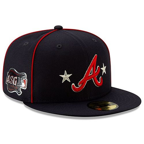 Men's New Era Navy Atlanta Braves 2019 MLB All-Star Game On-Field 59FIFTY Fitted Hat