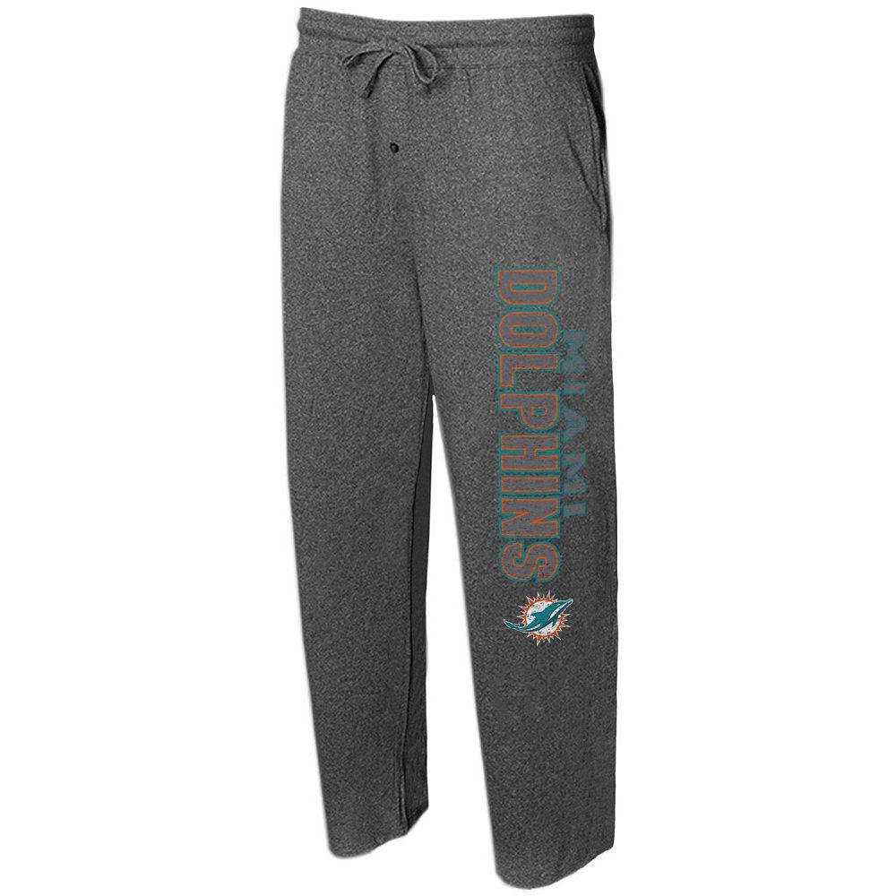 Men's Concepts Sport Charcoal Miami Dolphins Quest Knit Lounge Pants