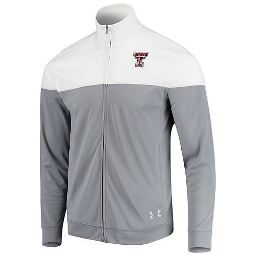 Men's Under Armour White Texas Tech Red Raiders College Track Jacket
