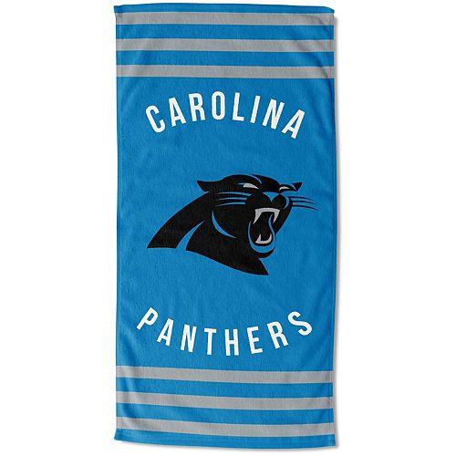 "The Northwest Company Carolina Panthers 30"" x 60"" Striped Beach Towel"