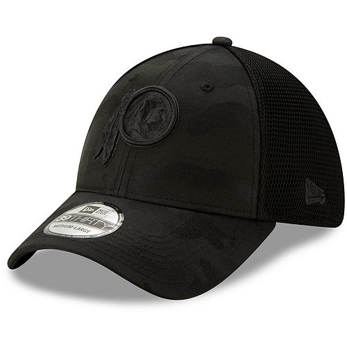 Men's New Era Black Washington Redskins Camo Front Neo 39THIRTY Flex Hat