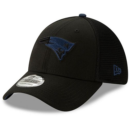 Men's New Era Black New England Patriots Sided 39THIRTY Flex Hat