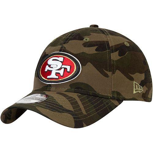 Youth New Era Camo San Francisco 49ers Core Classic Woodland Camo 9TWENTY Adjustable Hat