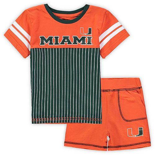 Toddler Colosseum Orange Miami Hurricanes Halifax T-Shirt & Shorts Set