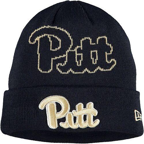 Youth New Era Navy Pitt Panthers Logo Whiz Cuffed Knit Hat