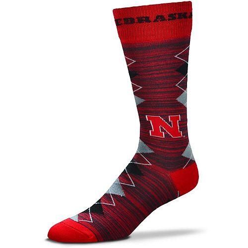 Men's For Bare Feet Nebraska Cornhuskers Fan Nation Crew Socks