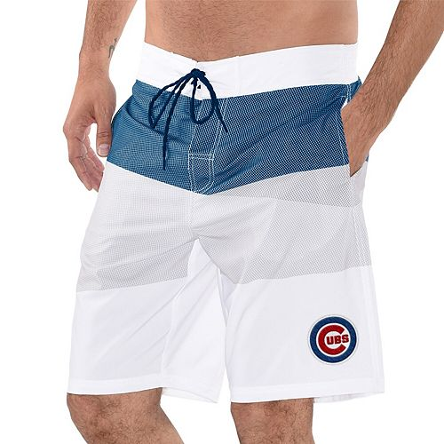 Men's G-III Sports by Carl Banks Royal/Gray Chicago Cubs Active Swim Trunks