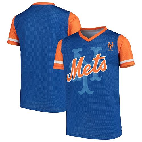 Youth Royal New York Mets Cooperstown Collection Play Hard V-Neck Jersey T-Shirt