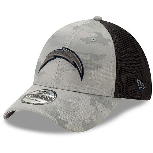 Men's New Era Gray Los Angeles Chargers Camo Front Neo 39THIRTY Flex Hat
